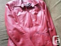 Women's leather jackets. Like new. Zip out lining.