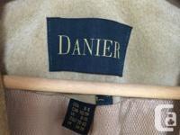 Danier leather tan suede jacket; worn only a few times.