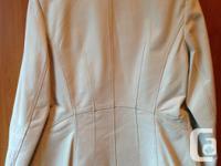 Woman's blazer style genuine leather jacket. New