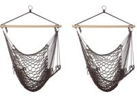 These hammock chairs are just as comfy hanging on your
