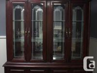 Gorgeous solid timber hutch in a cherry surface.