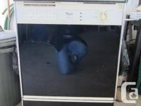 Black Whirpool dishwashing machine available, still in