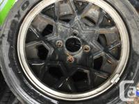 these are the wheels of of a datsun 280zx. the look and