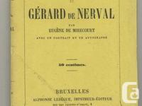 1854 - biography of French author / writer Gerard de