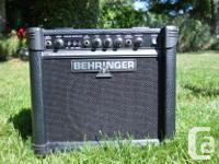 Dean Electric Guitar and Behringer 15 Wat Analog Model