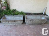 Rustic cast stone planters. European look. Heavy and
