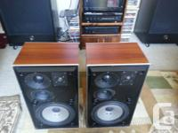 Pair of Beovox S75's with flamed rosewood cabinets.