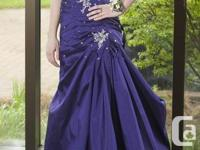 I am offering my prom gown which is deep purple in