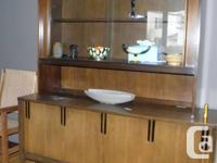 This is a mid century modern Deilcraft sideboard/buffet