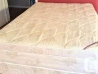 Really clean double Pillowtop mattress and boxspring.