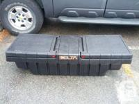 Delta truck tool box, side loading, for compact pickup.