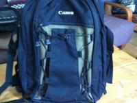 The Canon Deluxe Backpack 200EG is a water resistant