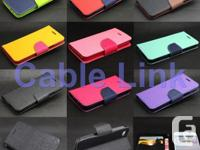 New Dual Color Deluxe Wallet Leather Flip TPU Case