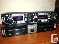 DENON DN-D4500 PROFESSIONAL DJ DUAL CD MP3 PLAYER WITH