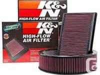 K&N Replacement Automotive Air Filters Designed to