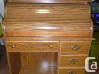 Roll top Desk $150 Desk with angle legs $75 small Desk