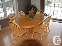 Pedestal Table as well as Chairs This table is made