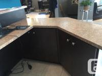 almost new reception desk, used in a salon needs very