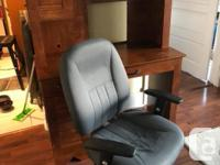 Will sell separately. Desk with hutch and desk chair.