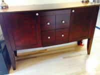 Set of 2 dressers (shade: Dark mahogony). Initial cost