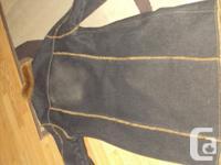 Dex denim coat, size L (fits size 10) very warm, fur