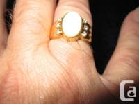 GENT'S OR LADIES OPAL As Well As DIAMOND RING. 6 FULL