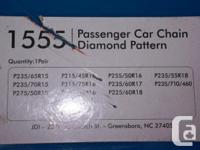 Diamond Pattern Snow Tire Chains like new FIT