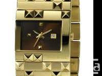 Diesel Ladies #DZ5144, Gold Plated Bracelet Watch With for sale  British Columbia