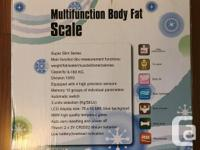 This scale measures overall weight and percentage of