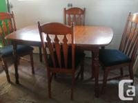 Eating Room Table, Fallen leave, & & 4 Chairs. 3 chairs