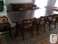 9 Item Mahogany dining space collection, lately