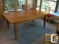 "High quality dining space table that is 72"" long and"