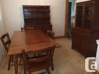 Full 3 piece dining-room collection, strong wood,
