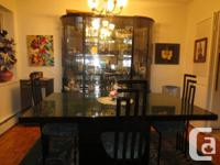 DINING ROOM  SET SITS 10 COMFORTABLY. WILL INCLUDE