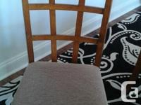Six dining room chairs, five in excellent condition,