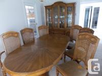 """Oval table 42"""" x 80"""" (2 - 16"""" aproned Leafs), 2 arm"""