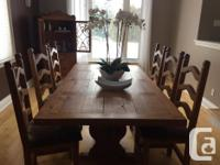 Dining room set for sale-Seats 8 $800 for set or $650