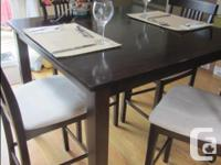 """Pub Style Table (41"""" sq. x 36""""h) includes 4 chairs"""