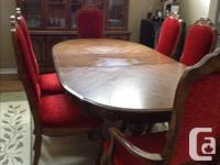 $500 or best offer for 11 pieces dining set. Buffet and