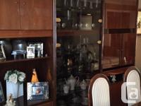 Price negotiable. Beautiful Mahogany dining set. Price