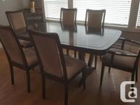 Dining Room Table - Espresso finish, extends from 6