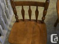 Dining Room Table/Chair set in solid Maple Made in
