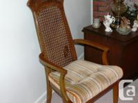 HAS 4 CHAIRS AND 2 ARMCHAIRS. ALSO 2 LEAF INSERTS. WILL