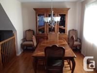 Dining Room Table, Hutch and Buffet Solid wood with