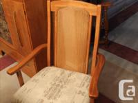 Palliser Dining Room Suite Oak Dining Table with leaf &