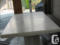 Solid Travertine Marble Dining Room Table, 5 feet by 3