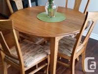 Dining room set solid oak (MOBI-ART) Nice gift for