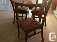 SOLID OAK 2 years old Dining set 5 pcs and buffet table