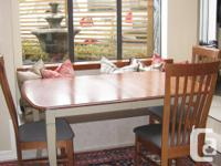 Canadian made solid wood kitchen / dining table and 4
