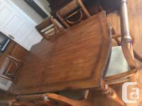 This is a very solid and sturdy dining room set. The
